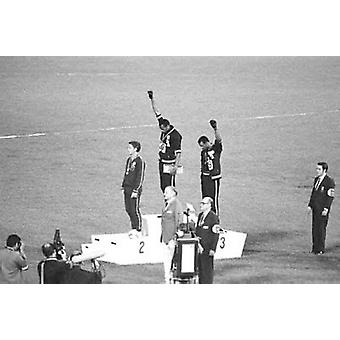 1968 Mexico Olympics Black Power Salute Poster Print (36 x 24)