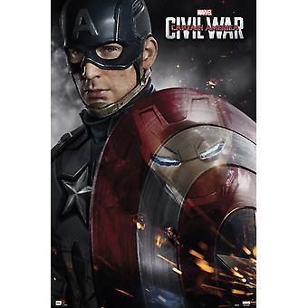 Captain America Civil War Onesheet Poster Poster Print
