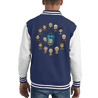 Varsity Jacket Doctor Who Lil Docs capretto