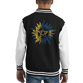Supernatural Swedish Anti Possession Kid's Varsity Jacket