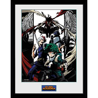 My Hero Academia Heroes and Villains Framed Collector Print 40x30cm