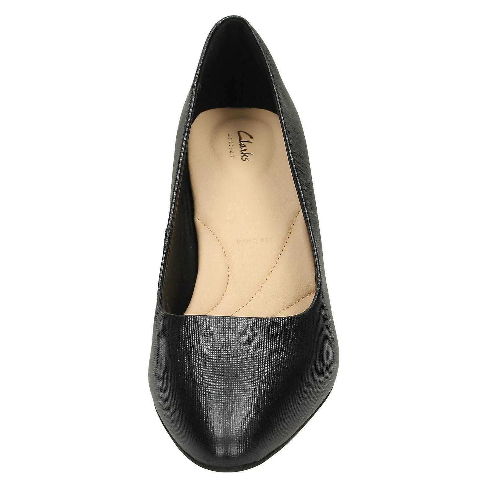 Textured Size Shoes UK Textured US Court Size Leather Clarks 4 Black Calla Size 5D 37 Ladies EU 7M 5 Rose vw0qxz