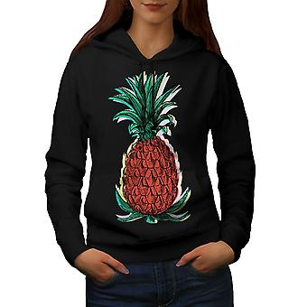 Ananas cibo donne BlackHoodie | Wellcoda
