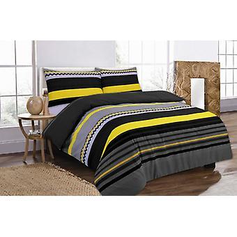 Benjamin Stripes Duvet Quilt Cover Polycotton Printed Bedding Set All Sizes