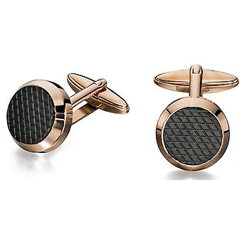 Stainless Steel Rose Gold Plated Fashionable Cufflink