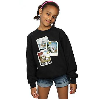 Disney Girls Frozen Olaf Polaroid Sweatshirt