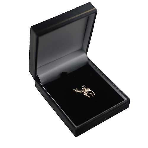 9ct Gold 22x17mm deer charm