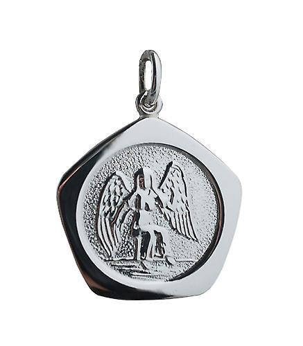 Zilver 21mm vijf zijdige Maagd Zodiac hanger