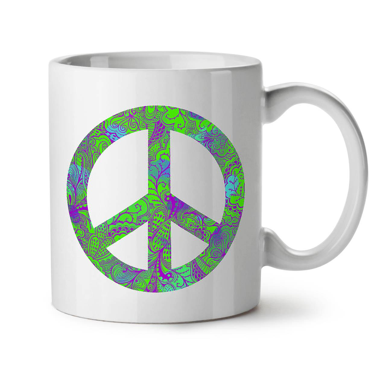 Nouveau Hippie Tasse OzWellcoda Blanc Forever Café 11 Thé Céramique Peace oxBhsQdCtr