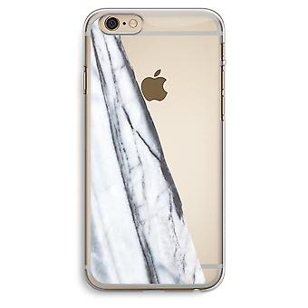 iPhone 6 Plus / 6 s Plus transparentes Gehäuse (Soft) - gestreift Marmor
