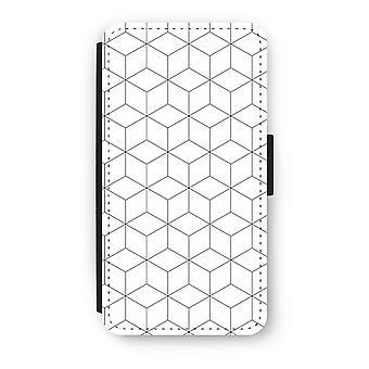 Samsung Galaxy J3 (2016) Flip Case - Cubes black and white