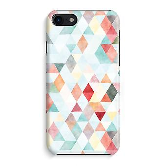 iPhone 8 Full Print Case (Glossy) - Coloured triangles pastel