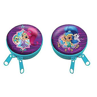 Shimmer and Shine Round Tin Coin Pouch