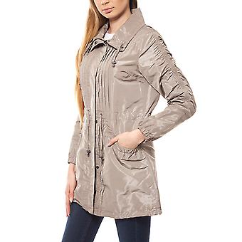 ashley brooke by heine Jacke Damen Parka Frühlingsjacke Grau