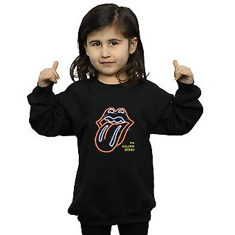 Rolling Stones Mädchen Neon Zunge Sweatshirt