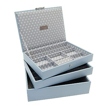 Stackers by LC Designs Set of 3 Blue Grey Medium Stacker Jewellery Trays -Style 2