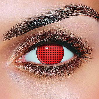 Red Screen Contact Lenses