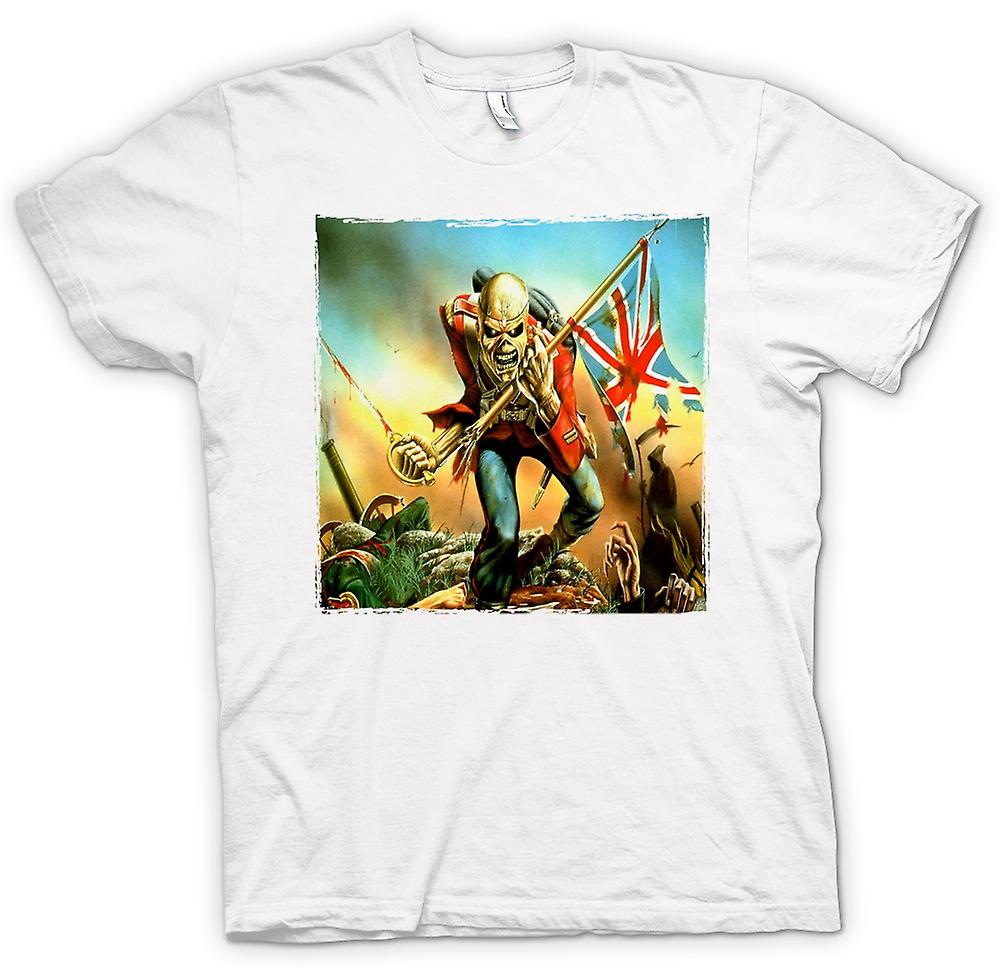 Mens T-shirt-Iron-Maiden - Trooper - Album-Cover