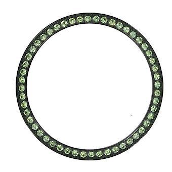 Lunetta di Marc Coblen Edition TW in acciaio Ø 42 mm - 15A nero verde chiaro