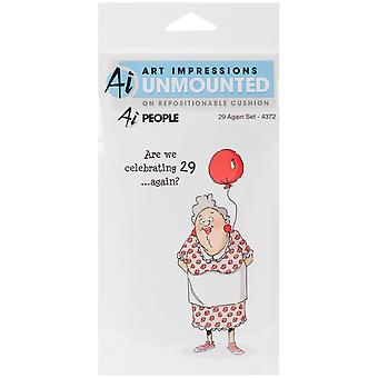 Art Impressions People Cling Rubber Stamps 7