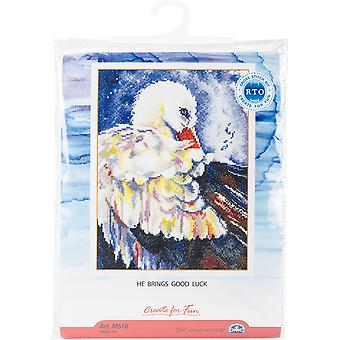He Brings Good Luck Counted Cross Stitch Kit-7.5