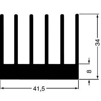 Fin heat sink 2.8 C/W (L x W x H) 100 x 41.5 x 34 mm Fischer Elektronik SK 189 100 SA
