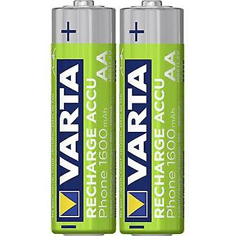 VARTA Phone HR06 AA Batterie (Akku) NiMH 1600 mAh 1,2 V 2 PC