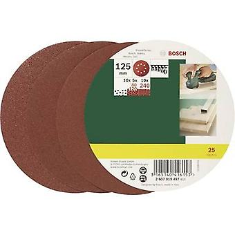 Bosch Accessories 2607019497 Router sandpaper set Hook-and-loop-backed, Punched Grit size 80, 120, 240 (Ø) 125 mm 1 Se