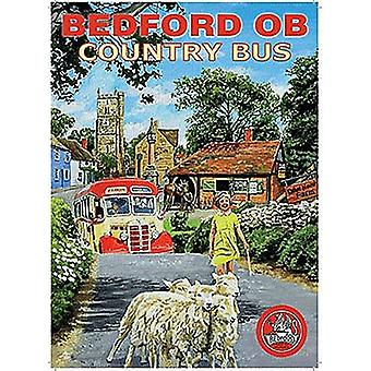 Bedford Ob Country Bus Small Steel Sign 200Mm X 150Mm