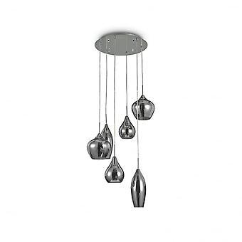 Cascada de humo cristal colgante ideal Lux 6 suave