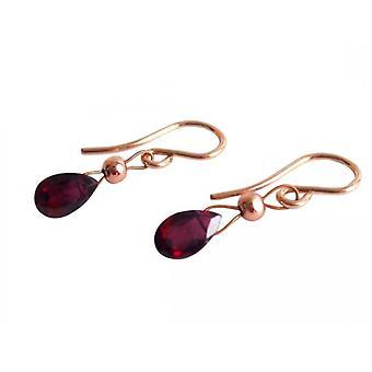 Garnet smycken Garnet örhängen CISSY örhängen Guld pläterad röd