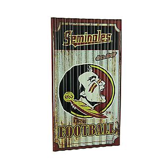 Florida State Seminoles Football Weathered finitura segno di metallo ondulato