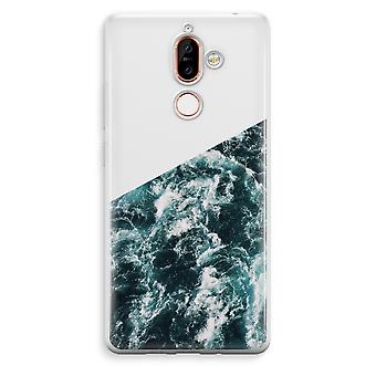 Nokia 7 Plus Transparent Case (Soft) - Ocean Wave