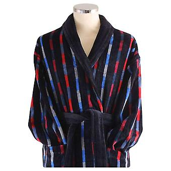 Bown of London Bridgend Check Dressing Gown - Black/Blue/Red