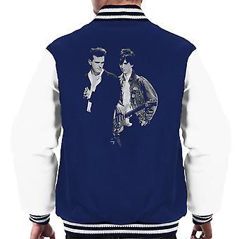 The Smiths Morrissey And Johnny Marr Together Live 1985 Men's Varsity Jacket