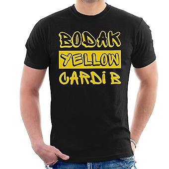 CARDI B Bodak jaune chanson titre T-Shirt homme