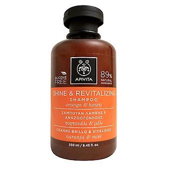 Apivita Glanz & Revitalisierende Shampoo mit Orange & Honig 8,45 OZ