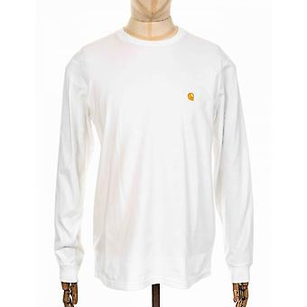 Carhartt WIP L/s Chase Tee - White