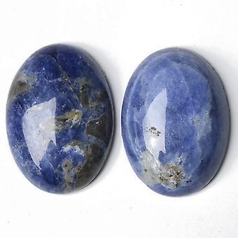 1 x blå Sodalite Flat tilbake 30 x 40 mm ovale 7,5 mm tykk Cabochon CA16649-8