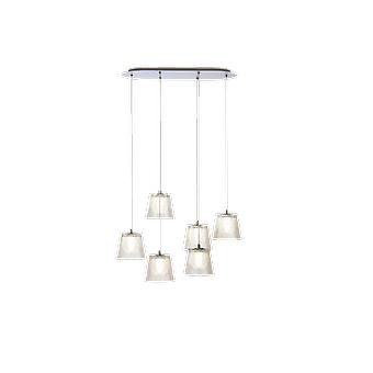 Brillcool Orion Nickel Six Pendant  Oval Canopy