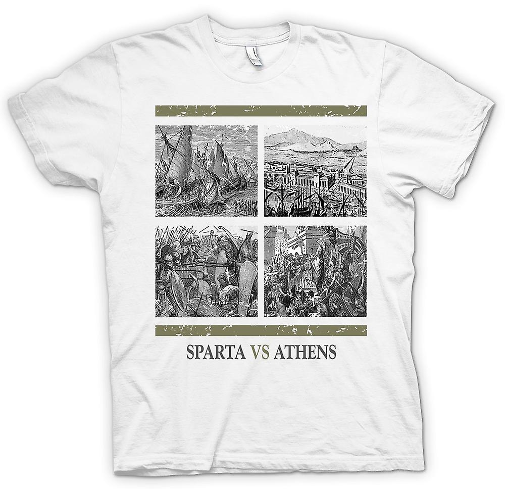 Mens t-shirt - Sparta Vs Atene - storia antica