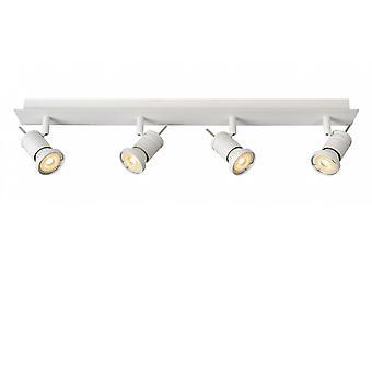 Lucide Twinny-LED moderna rektangel Metal White Spot taklampa
