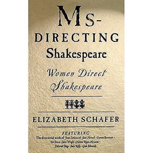 MS-Directing Shakespeare  femmes Direct Shakespeare
