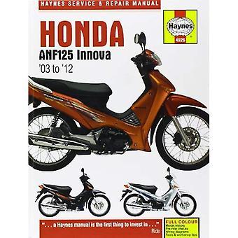 Honda ANF125 Innova Service en reparatie handleiding: 2004-2012 (Haynes Service en reparatie handleidingen)