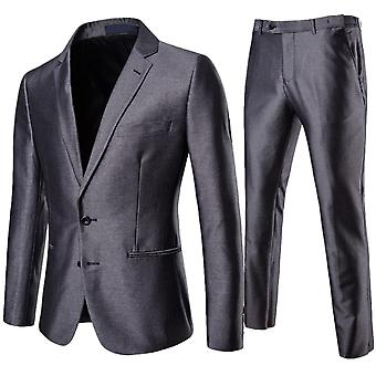 Cloudstyle Men's Suit Solid Slim Fit Smooth Business Suit