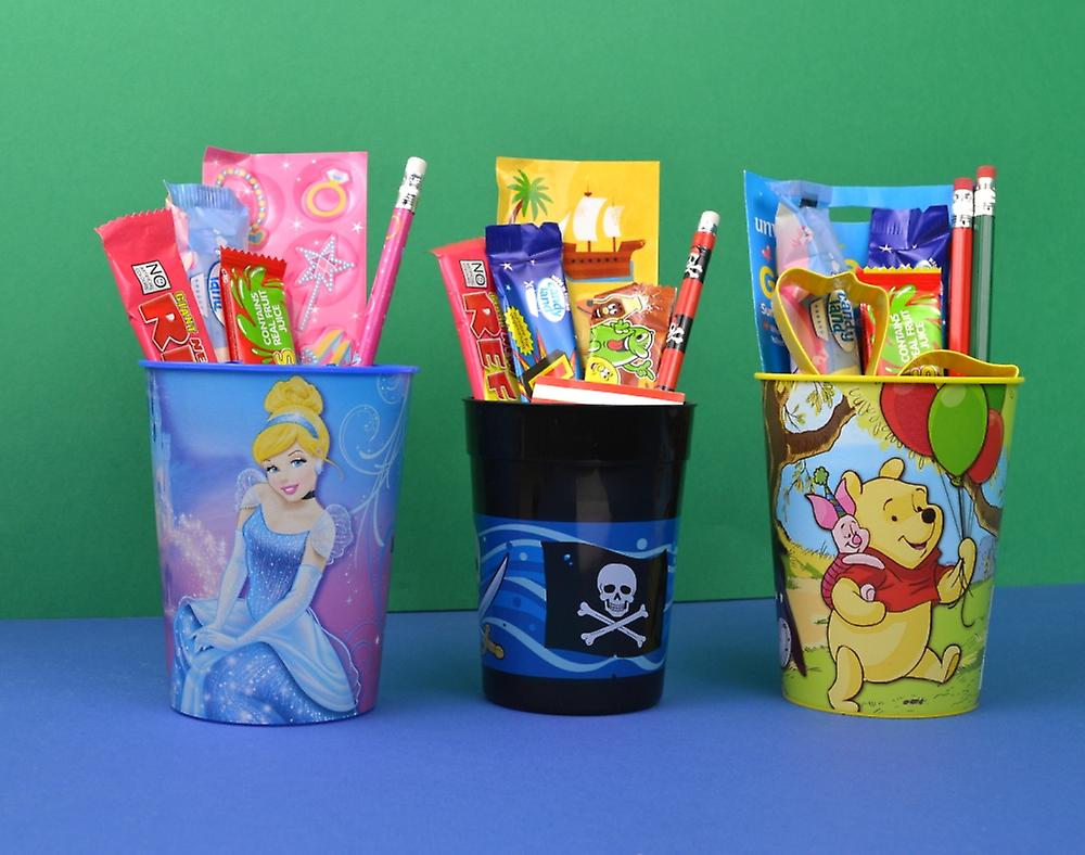 12 Glow in the Dark Face Plastic Party Cups | Kids Party Cups