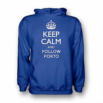 Keep Calm And Follow Porto Hoody (blue)