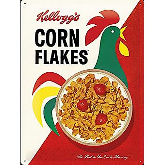 Kelloggs Corn Flakes Modern Packet large embossed steel sign      (na 4030)