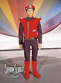 Captain Scarlet steel fridge magnet   (sd)