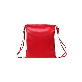 Stella Mccartney rojo imitación cuero mochila